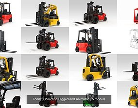 3D Forklift Collection Rigged and Animated