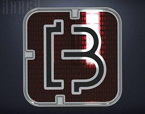 Bitcoin icon 3D print model
