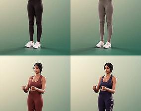 11406 Micaela - 4 Texturevariations Black woman 3D model 1