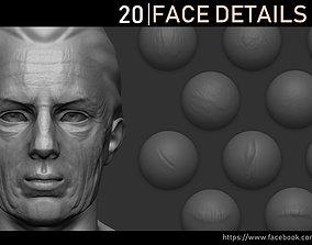 3D model Zbrush - Face Details VDM Brush