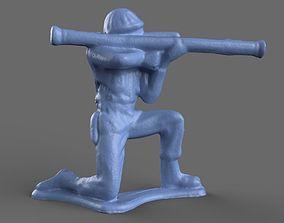 Green Army Men Bazooka model 3D