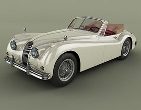 3D model Jaguar XK140 Drophead
