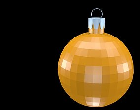 3D model Low poly christmas ball 1