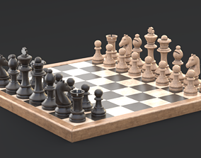 3D model PBR Common chess game