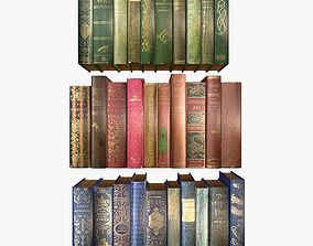 Old Books Collection 1 3D model