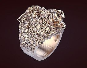 3D printable model rings Boar ring