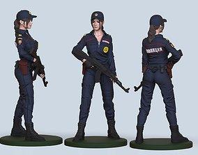 hot cop girl 3D printable model police