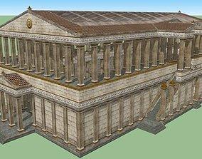 Fantasy Greco-Roman Temple 3D model