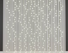 3D Curtains with garlands