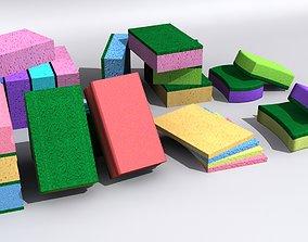 bright 3D model Kitchen Sponge
