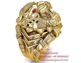 3D print model 2070 New Tiger Ring For Men November 2019