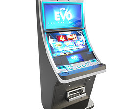 3D Slot Machine Blue