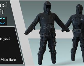 3D Tactical Outfit Marvelous Designer project