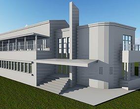 Havana Architecture and Engineer Union Center 3D asset 2