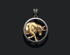 Horoscope Taurus Bull pendant 3D printable model