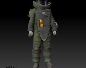 EOD Tech in bomb suit 3D print model