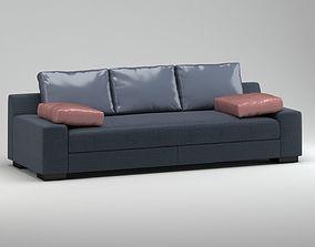 3D Black Grey Modern Sofa