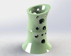 holder 3D printable model Bamboo Pen Holder Moon