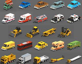 Voxel Vehicles Pack 24 Vehicles 3D asset