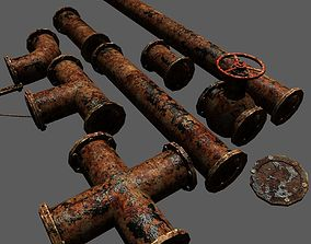 Metal Pipes Pack 3D model