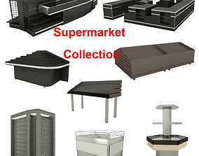 service 3D model Supermarket Collection