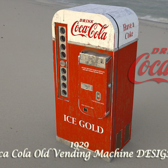 old cocacola cabinet