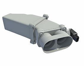 3D model Car Engine Super Charger