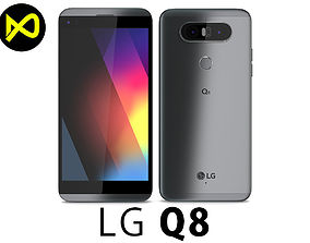 LG Q8 Urban Gray 3D