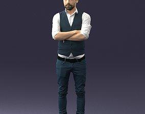 Stylish man in vest 0198 3D Print Ready cjp