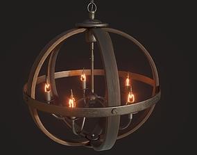3D PBR Loft Chandelier