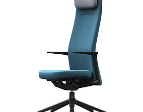 Vitra Pacific low office chair 3D
