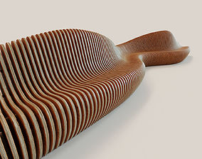 Parametric bench Wave-2 3D