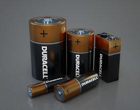 realtime PBR Batteries 3D models