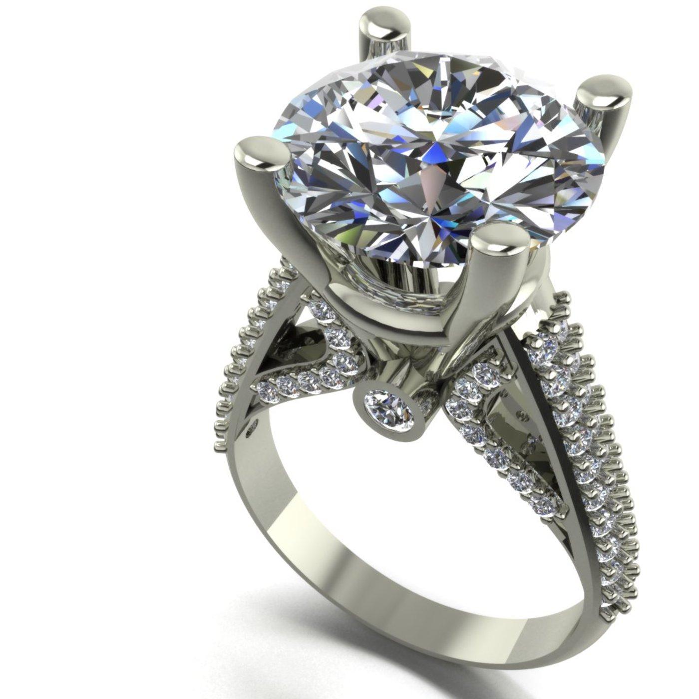 big diamond woman ring