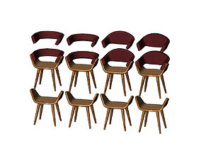Miniature modern bentwood armchair 3D printable model