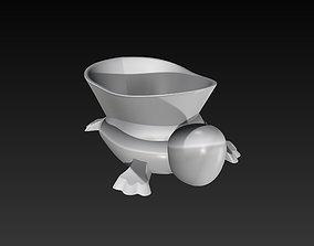 Turtle Simple Minimal Design 3D Print Ready model 3D 1