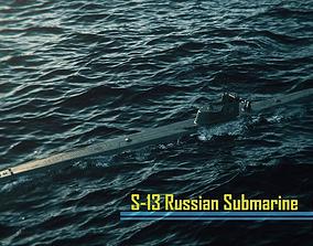 Soviet submarine S-13 C-13 1945 3D model