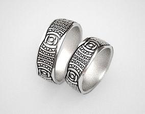 3D printable model Photographers wedding rings - original