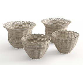 3D Rattan Baskets Set