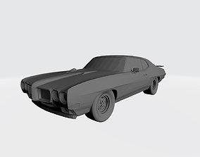 Pontiac GTO 1970 3D Car Model Printing Files Stl