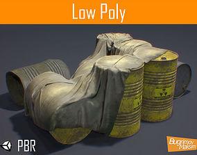3D asset PBR Barrels Cloth