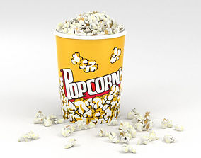 grain 3D model Popcorn