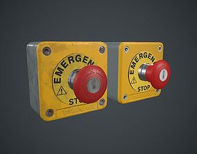 Emergency Button PBR Game Ready 3D model