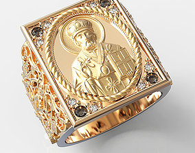 3D print model Mens ring Saint Nicholas