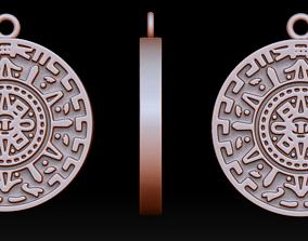 3D print model Maya calendar pendant