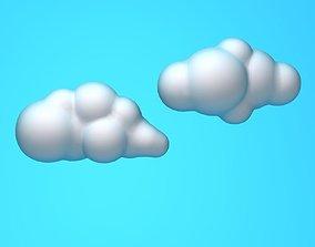 other Cartoon clouds 3D model