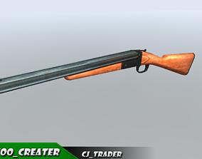 realtime Shotgun riffle low poly 3d model