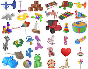 Children toys L01 pack 36 models 3D