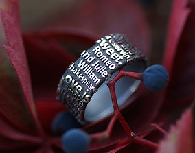 3D print model Romeo and Juliet ring