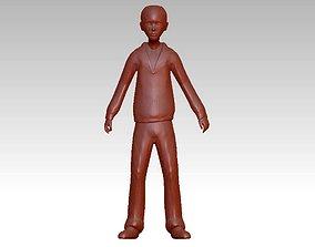 young boy character 3D print model